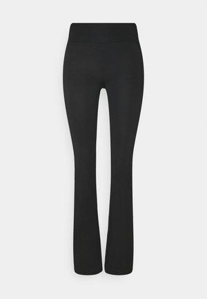 OBJLERA PANTS - Leggings - Trousers - black