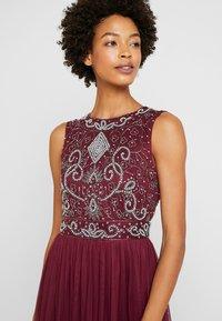 Lace & Beads - PAULA MAXI - Společenské šaty - burgundy - 4