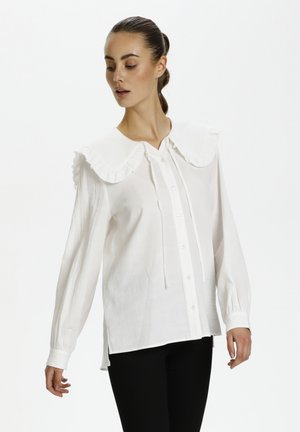 FLASH - Button-down blouse - whisper white