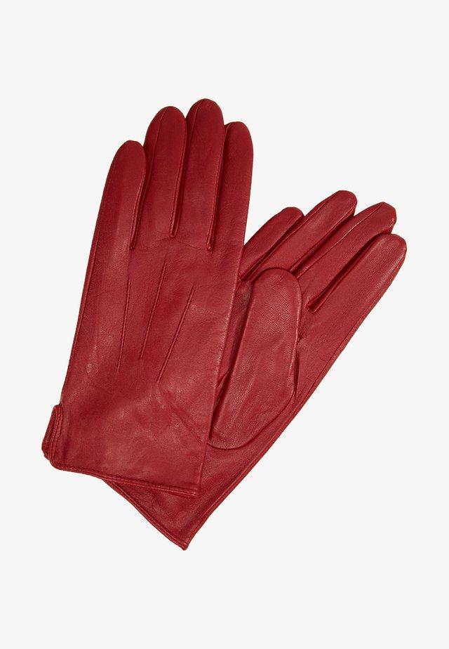 CARLA - Rękawiczki pięciopalcowe - crimbson