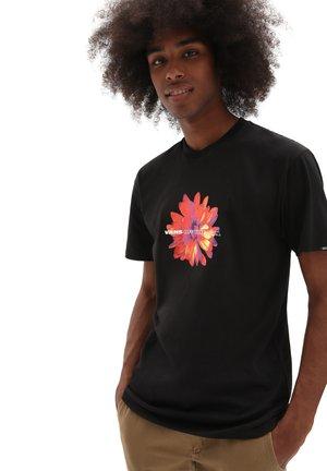 MN BLOOMING SS - T-shirt med print - black