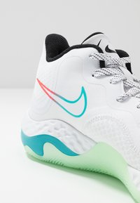 Nike Performance - RENEW ELEVATE - Koripallokengät - white/black/flash crimson/oracle aqua/vapor green - 5
