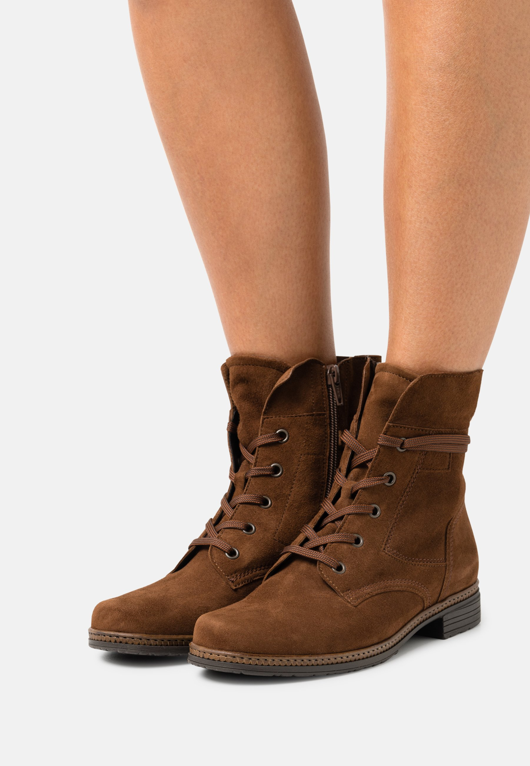 Women Lace-up ankle boots - new whisky