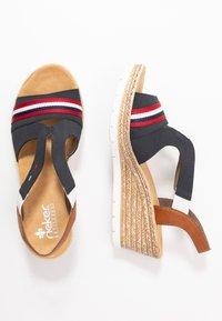 Rieker - Platform sandals - pazifik/cayenne - 3