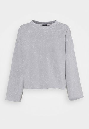FLARE CROP - Sweatshirt - crystal gray