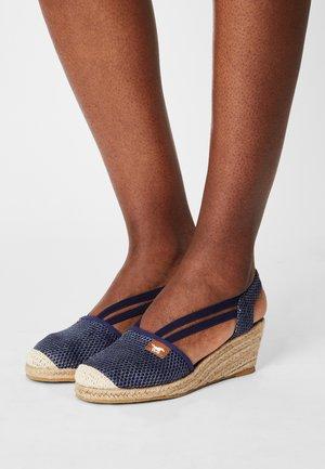 Sandales compensées - blau