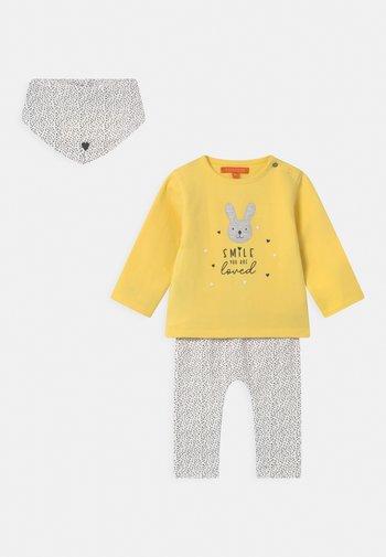 SET - Sweatshirt - yellow/off-white