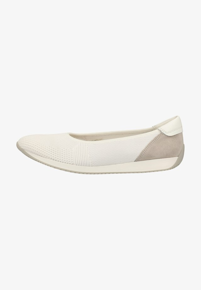 Ballet pumps - white/pebble