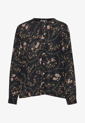 KAJUSTINA PPP - Blouse - black - brown flower print