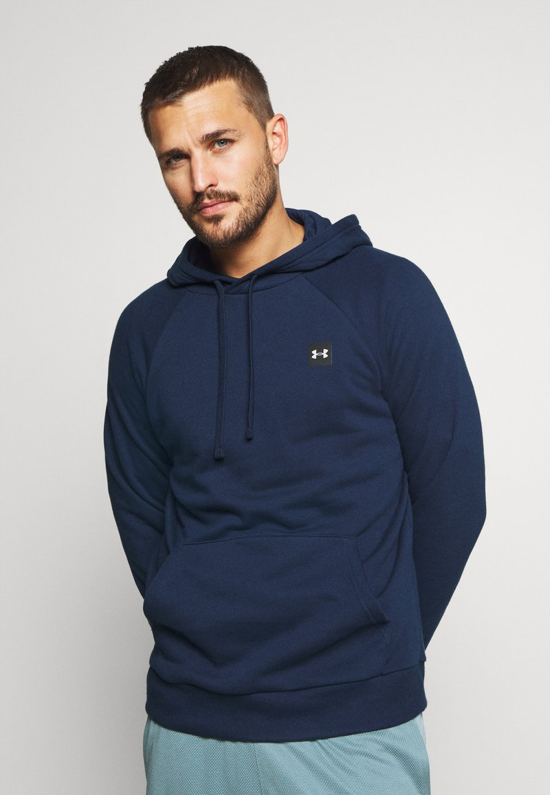 Under Armour - RIVAL  - Hoodie - academy/onyx white