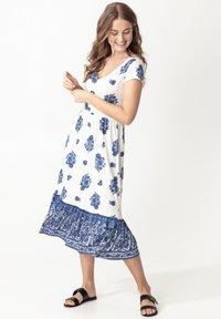 Indiska - RUNITA - Jersey dress - blue - 1