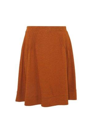 FLARE SKIRT - Mini skirt - caramel