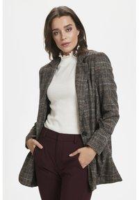 Soaked in Luxury - JILLIAN - Short coat - black/brown/cream - 3