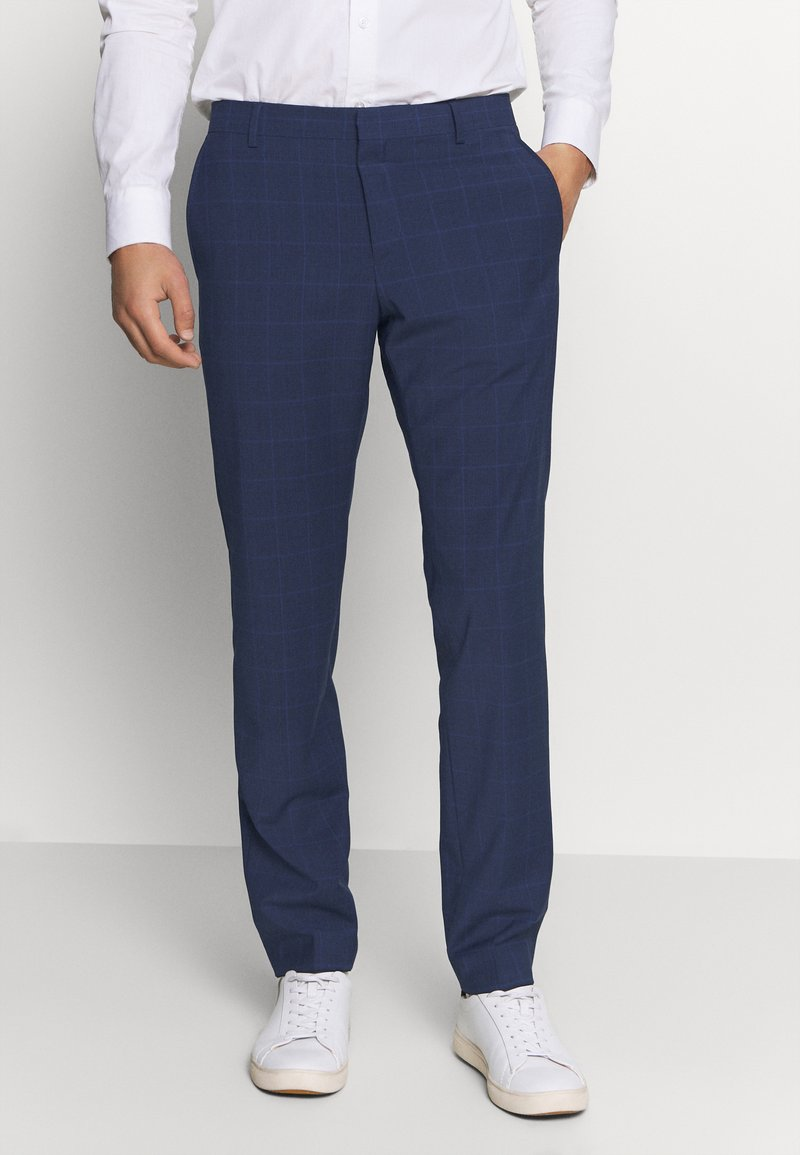 Tommy Hilfiger Tailored - FLEX SLIM FIT CHECK PANT - Suit trousers - black