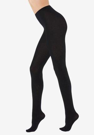COLLANTS DOUX AVEC CACHEMIRE - Tights - black