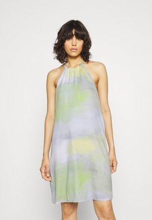 TIE HALTERNECK MINI DRESS - Day dress - multi-coloured