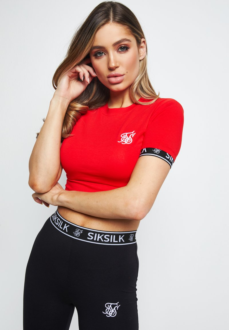 SIKSILK - Print T-shirt - red