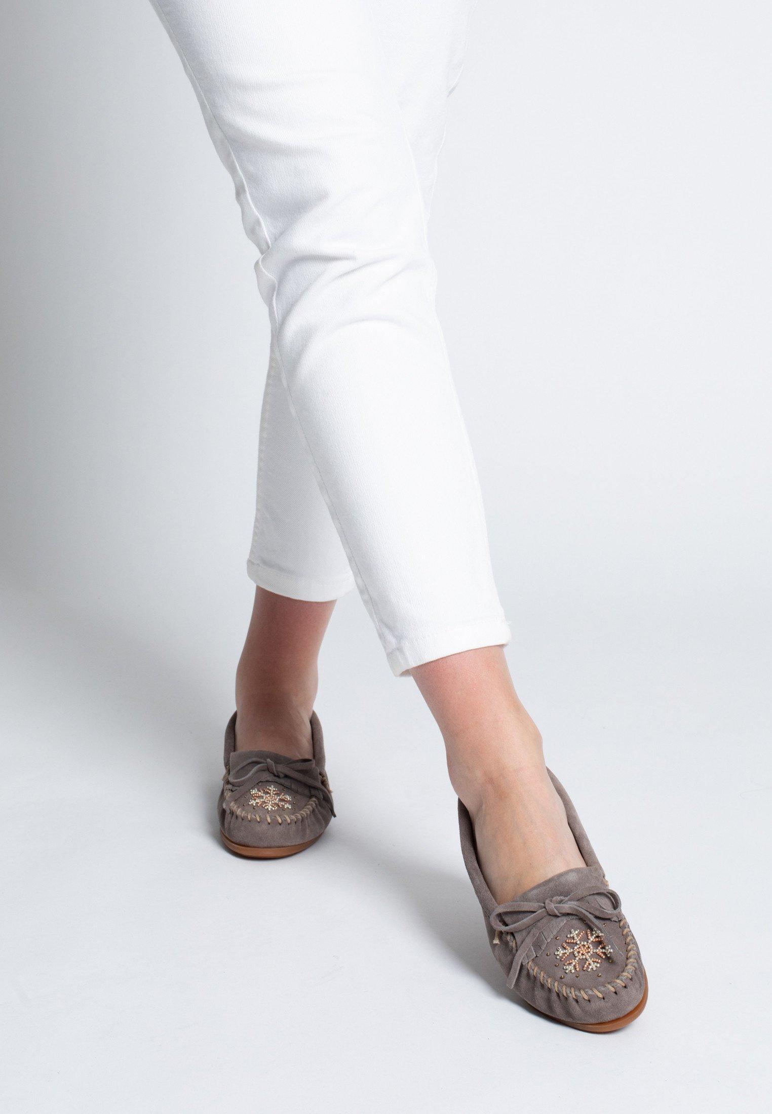 Minnetonka Chaussures bateau - gris - Mocassins & Chaussures bateau femme À bas prix