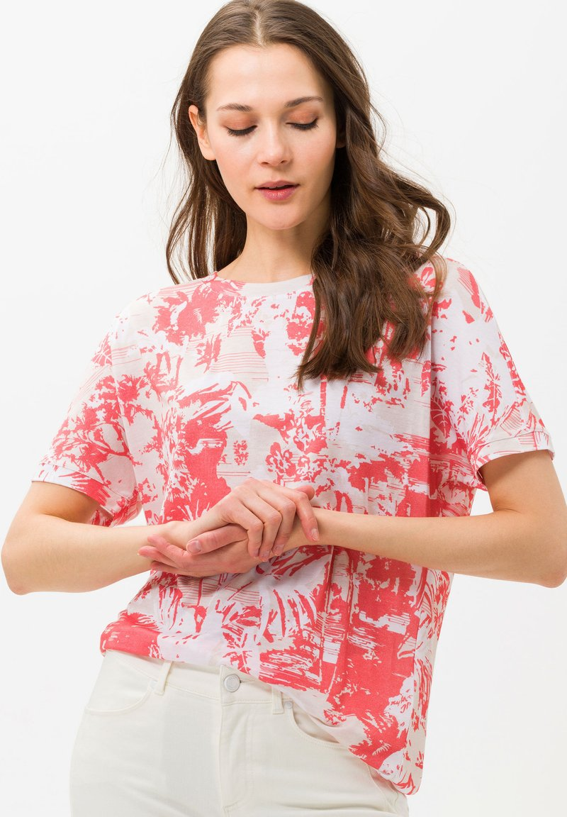 BRAX - Print T-shirt - red
