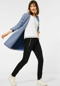 Street One - MIT PIQUÉ - Short coat - blau - 1