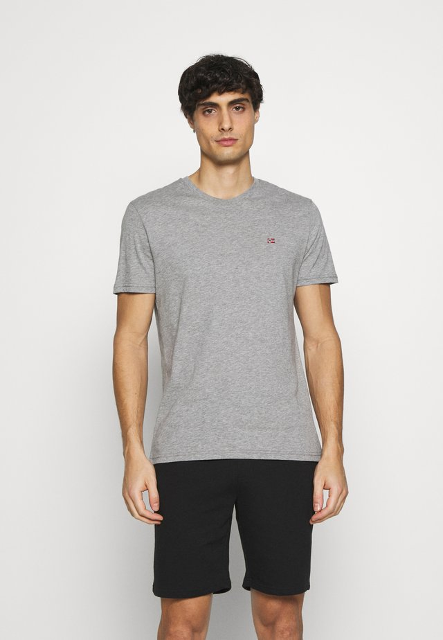 SALIS - T-shirt basique - mottled grey
