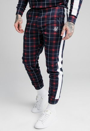CHECK CUFFED PANT - Tracksuit bottoms - navy