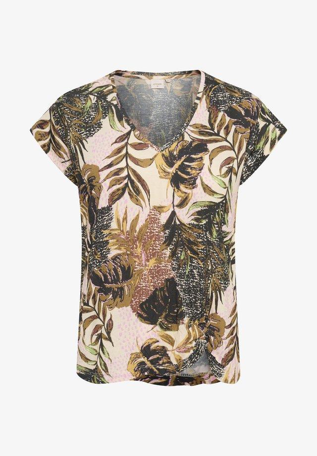 BASTILLA - T-shirt imprimé - dull gold jungle
