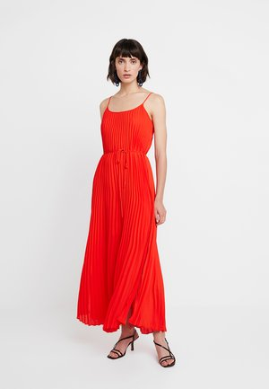 PLEATED SOLID - Maxi šaty - hot red