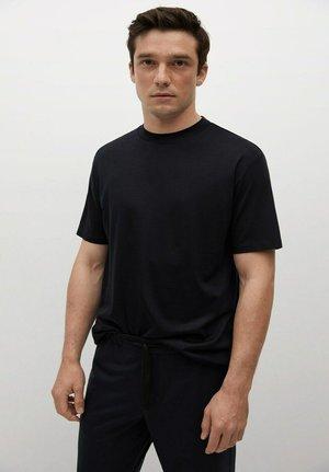 ROBERT - Basic T-shirt - bleu marine foncé