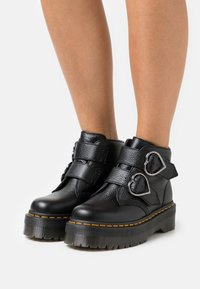 Dr. Martens - DEVON HEART - Platform ankle boots - black aunt sally - 0