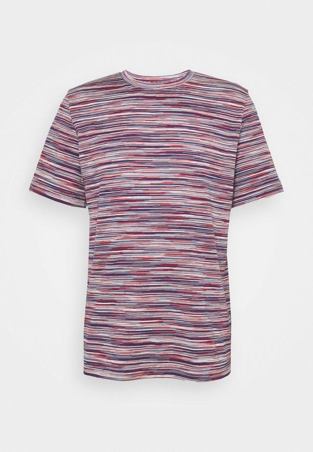 SHORT SLEEVE - Print T-shirt - rosso/bluette