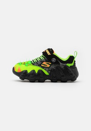 SKECH-O-SAURUS LIGHTS - Trainers - black/lime/orange