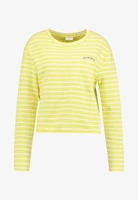 Marc O'Polo DENIM - CREW NECK STRIPED - Sweatshirt - yellow/white - 4
