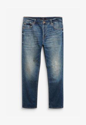 Jeans straight leg - mottled blue