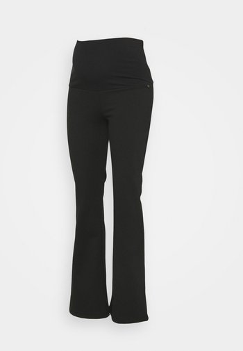 PANTS FLARED PONTE - Trousers - black