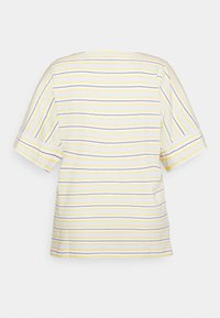 MY TRUE ME TOM TAILOR - MULTICOLOR STRIPES - Print T-shirt - soft blue/yellow - 1