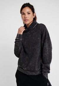 Reebok - OVERSIZED COVER UP - Sweater - black - 0