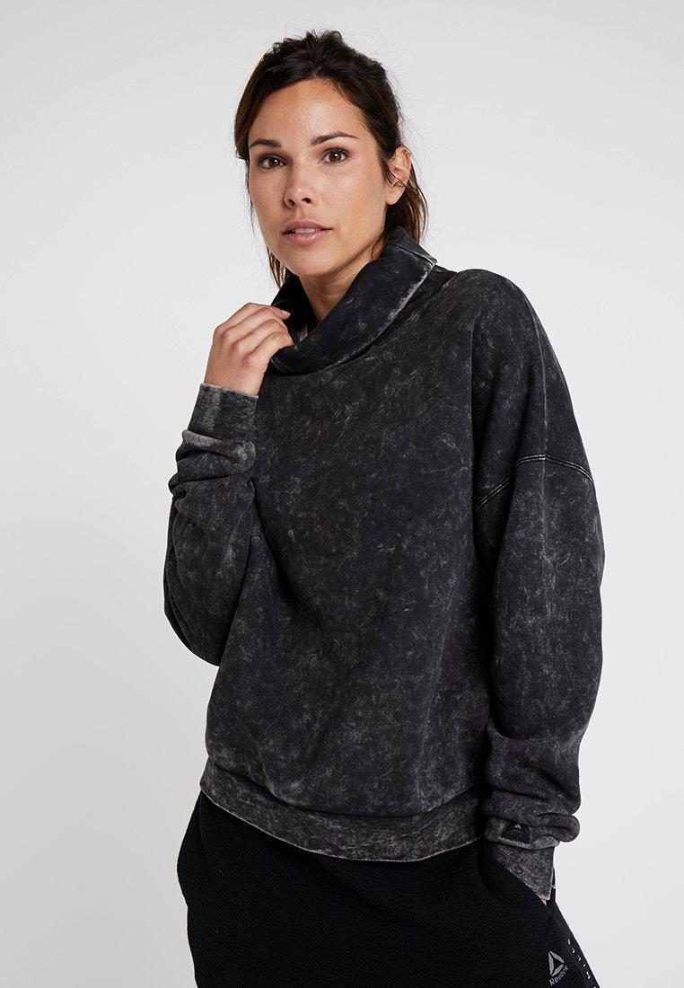 Reebok - OVERSIZED COVER UP - Sweater - black