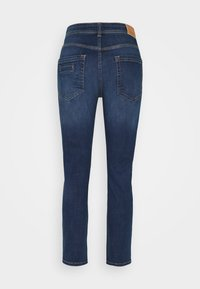 Marc O'Polo - DENIM TROUSER MID WAIST BOYFRIEND FIT CROPPED LENGTH - Slim fit jeans - vintage dark wash - 1
