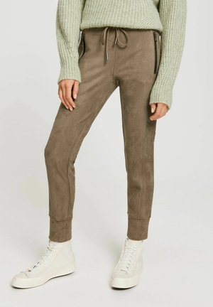 LEVINA SOFT - Tracksuit bottoms - taupe