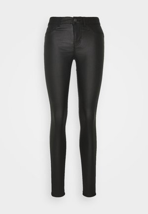 PCSHAPE UP PARO COATED - Skinny džíny - black