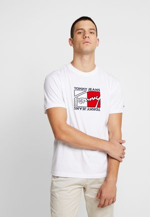 FLAG SCRIPT TEE - T-shirt con stampa - classic white