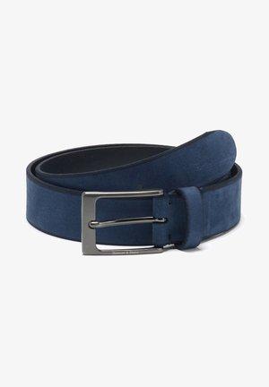 CINTURA NABUK CON COSTOLATURE A CONTR - Belt - blu scuro