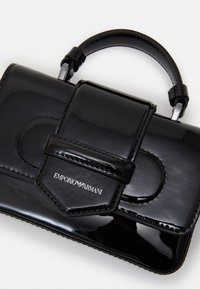 Emporio Armani - FLO PATENT WOMEN'S MINIBAG - Across body bag - nero - 3