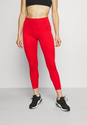 ONE - Leggings - chile red/university red/white