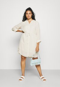 Selected Femme Curve - SLFKAMINA DRESS - Day dress - sandshell - 1