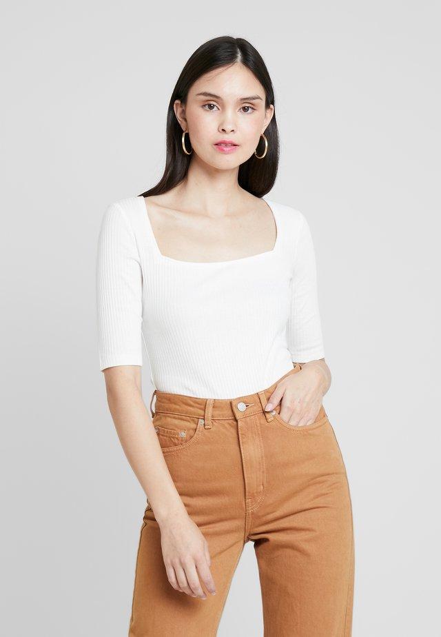BODYSUIT - Jednoduché triko - off-white