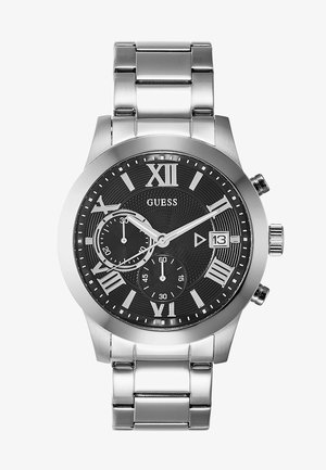 MENS DRESS - Chronograph watch - silver-coloured/black