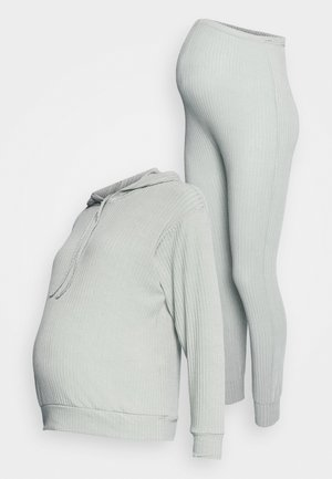 SOFT JOGGER SET - Long sleeved top - mid grey