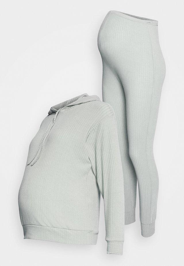 SOFT JOGGER SET - Pitkähihainen paita - mid grey